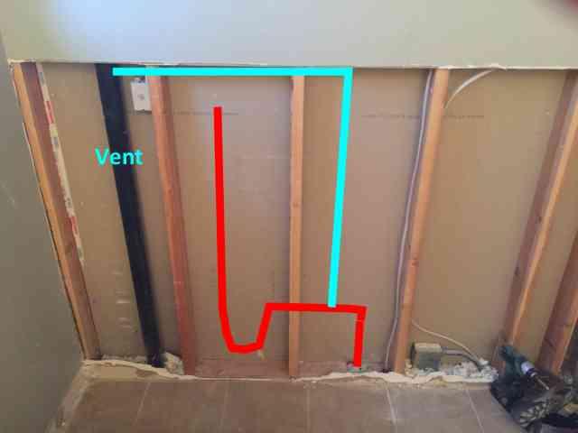 washing machine plumbing in