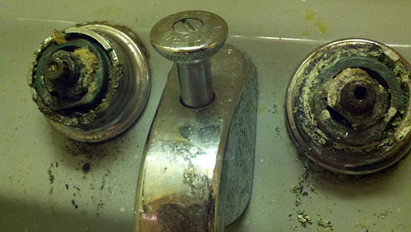 Crane Valve Replacement Parts : Angled crane dial ese faucet mount lavatory sink repair